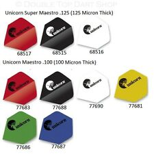 Unicorn Maestro Dart Flights 125 & 100 - Full Range - Choose Colour & Thickness