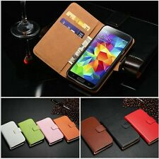 New Luxury Leather Card Stand Flip Wallet Case Cover For Samsung Galaxy S5 I9600