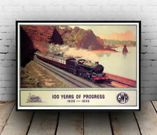 100 years of progress : Old Travel Poster reproduction