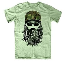 "DUCK COMMANDER ""ITS BEARD SEASON"" T-SHIRT MILITARY GREEN"