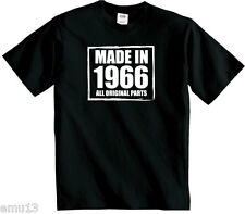 Made In 1966 Birthday t shirt Perfect Gift or Present T-Shirt FREE UK P&P