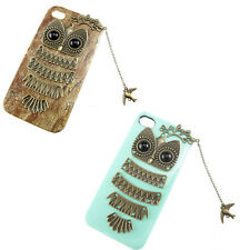 Cute Owl With Branch Bird Pendant Hard Case Cover For Phone 5 5G 5S Case bumper