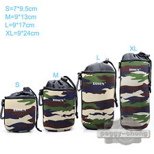 EOSCN Camouflage Neoprene Soft DLSR Camera Lens Pouch Case Cover Bag Protector