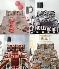 Retro Home Vintage Quilt Doona Duvet Cover Set - SINGLE DOUBLE QUEEN KING
