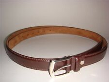 NEW BIG TALL MEN  BROWN  LEATHER BELT 1 INCH WIDE SIZE 54 56 58 60