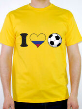 I LOVE FOOTBALL - Colombia / Colombian / Sport / Flag / Fun Themed Mens T-Shirt