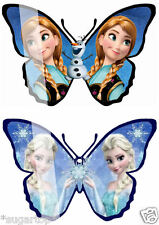 24 Butterflies of 2 DESIGNS Disney FROZEN ELSA, ANNA & OLAF Edible Cake Toppers