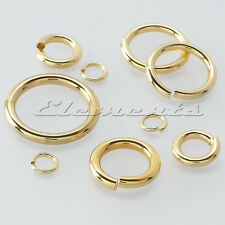 SOLID 9 CT YELLOW GOLD 5mm STRONG JUMP RING OPEN LINK HEAVY OR LIGHT findings