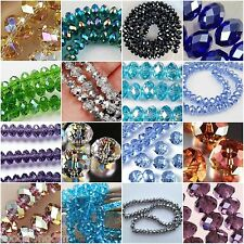 HOT SALE MULTI COLORS SWAROVSKI CRYSTAL GEMSTONE LOOSE BEADS 4X6MM 6X8MM