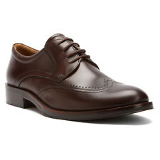 NEW - Men's Ecco Canberra Wing Tip Leather Lace Up Shoes - Mink - 62150401014