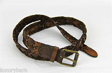 Armani Exchange A|X Dress Belt Braided 100% Authentic 100% Leather New