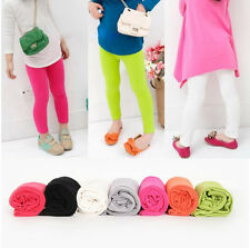 Kids Toddlers Children Girls Spring Pure Color Pants Leggings Trousers Sz2-7Year