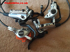 2013 New Shimano XT M785 Sliver Hydraulic Disc Brake Set Front + Rear