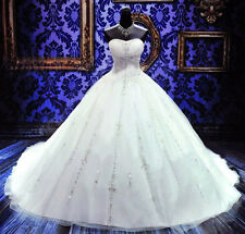 New white/ivory wedding dress custom size 2-4-6-8-10-12-14-16-18-20-22++++