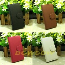 New Litchi Line flip PU leather case cover For Sony phone with credit card slot