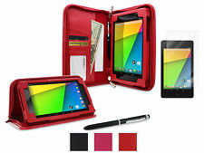 roocase Executive Leather Case + Ultra HD Clear Film Guard for Nexus 7 2013 FHD