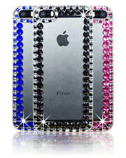 Crystal Bling Diamond Fitted Hard Back Clear Case Cover For Apple Samsung Phones