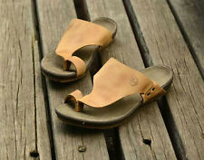 Men's summer genuine leather thong flip-flops sandal shoes light & comfortable