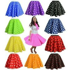 Vintage Rockability 50s' 60s' Party Polka Dots Pleated Skater Skirts @wx688