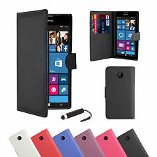 PU LEATHER WALLET CASE COVER FOR NOKIA LUMIA 630 / 635 / 530 + SCREEN PROTECTOR