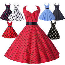 Glam Robe Pin Up Rétro Millésim Rockabilly années 50s 60s polka dot Swing Robes-