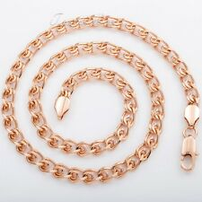 """4/6/7mm Mens Chain Snail Rose Gold Filled Necklace Lobster Clasp DIY Sz 18""""-36"""""""