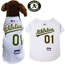 MLB Fan Gear OAKLAND ATHLETICS Dog Jersey Dog Shirt for Dogs BIG SIZE XS-2XL