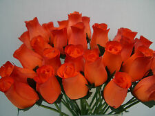 BURNT ORANGE RED WHOLESALE ARTIFICIAL WEDDING FLOWERS GIFT WOODEN ROSES GIFT