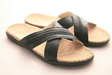 Big Size!Healthy Outdoor Hemp Jute Flax Slippers Sandals - men(Xblack)