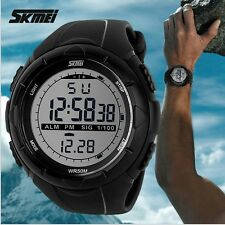 New fashion Men LCD Digital Stopwatch Date waterproof Rubber sport wrist Watch