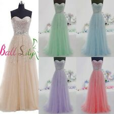 New Long Tulle Sweetheart Prom Dresses Quinceanera Ball Gowns Formal Party Dress