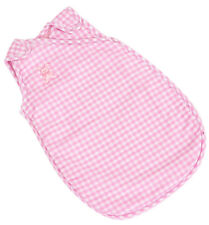 PINK GINGHAM SLEEPING BAG FOR 12-14 INCH DOLLS  BY FRILLY LILY