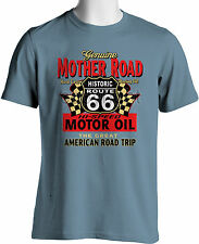 Route 66 Souvenir T-Shirt Mother Road Motor Oil Mens Motor Shirts Size S to 3XL