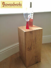 Oak Beam Lamp Stand / Side Table / Speaker Stand - Various Sizes