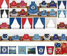 OFFICIAL FOOTBALL CLUBS ACCESSORIES SINGLE DOUBLE BEDDING CURTAINS BLUE RED GIFT