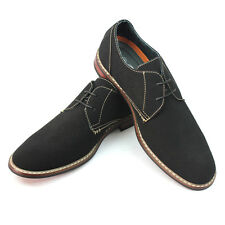 New Men's Black Ferro Aldo Shoes Round Toe Suede Casual Lace Up Denim Friendly