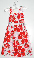 NWT ABS Allen Schwartz Toddler Girls 100% Cotton Orange Floral Woven Dress