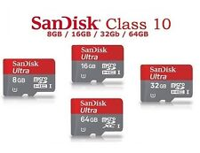 Original Sandisk Ultra 8GB 16GB 32GB 64GB Class 10 MicroSDHC Memory Card Phone