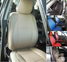 SELECT SUBARU mix LEATHERETTE AND SYNTHETIC TWO FRONT CUSTOM CAR SEAT COVERS