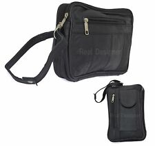 Real Leather Hand Money Passport Bag Zip Box Toilet Cosmetic Travel Mobile 115