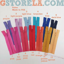 """Assorted Colors of Hard-To-Find 5"""" Inch Talon Zippers *Closeout* 50,25,10"""