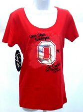 Ohio State Buckeyes Ladies Short Sleeve T-Shirt Campus Couture #1 Buckeyes Red
