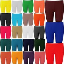 New Ladies Plus Size Active Wear Sportswear Cycling Knee Shorts 12-22