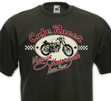 T-shirt CAFE RACER - Vintage Motorcycle Biker Custom Royal Enfield Triumph BSA