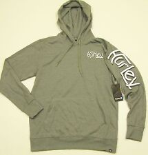 HURLEY Men's Gray Cotton/Poly LS Pullover Graphic Hoodie Sweatshirt - NEW NWT