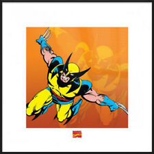 """WOLVERINE - FRAMED ART PRINT / POSTER (ATTACKING) (SIZE: 16"""" x 16"""")"""