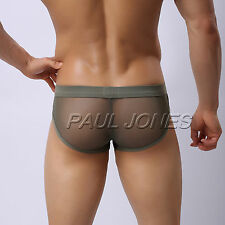 CHEAP Sexy Men's Low Rise Mesh Underwear Y-Front Jockstrap Briefs Pouch Shorts