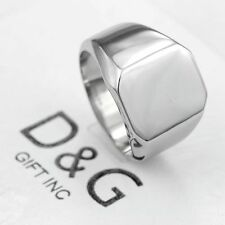 DG Men's Silver Stainless Steel Shiny Classic ID Wedding Ring Size:9,10,11,12