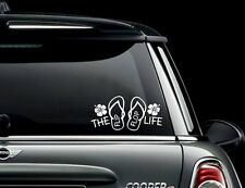 The Flip Flop Life with Hibiscus Vinyl Decal for your car, laptop and more