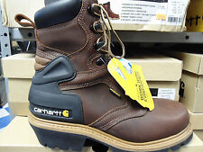 "NEW CARHARTT 8"" SAFETY TOE LOGGER CML8220 BOOTS"